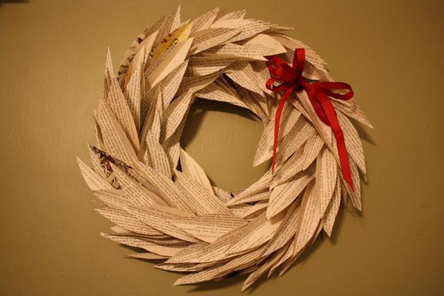 http://www.katydidandkid.com/2009/12/recycled-book-wreath-tutorial.html